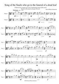 Chanson des escargots qui vont à l'enterrement d'une feuille morte (Song of the Snails that go to the funeral of a dead leaf) for viola duo