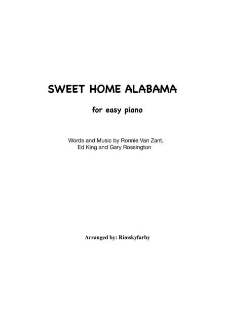 Download Sweet Home Alabama For Easy Piano Sheet Music By Lynyrd