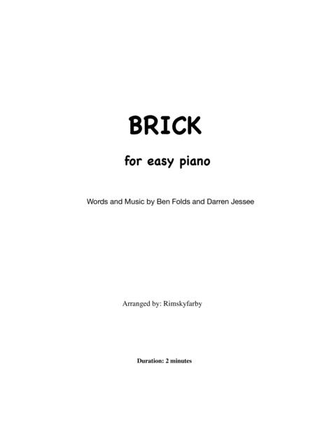 Brick for easy piano