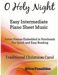 O Holy Night Easy Intermediate Piano Sheet Music