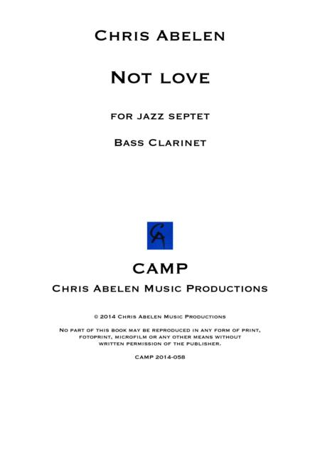 Not love - bass clarinet