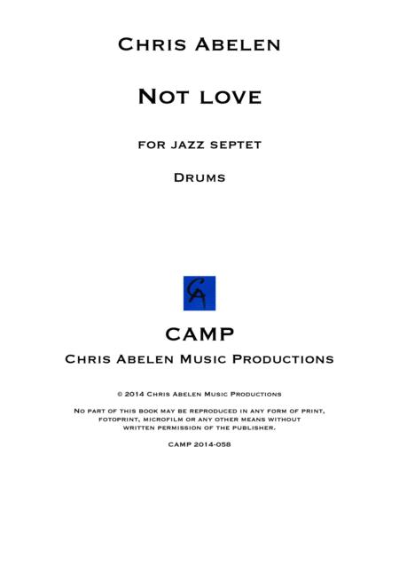 Not love - drums