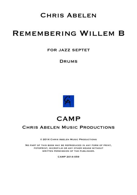 Remembering Willem B - drums