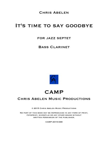 It's time to say goodbye - bass clarinet