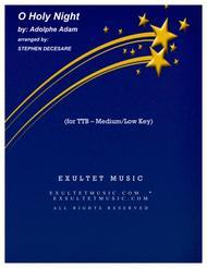 O Holy Night (for TTB - Medium/Low Key)
