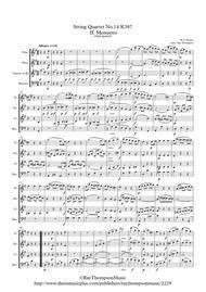 Mozart: String Quartet No.14 in C major K.387 (Spring) (Mvt.II Menuetto and Trio) - wind quartet