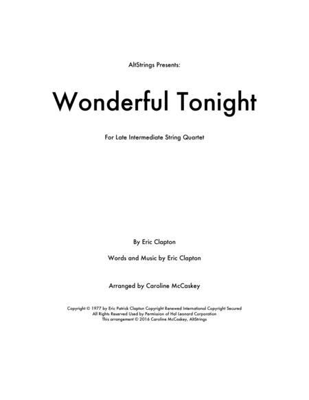 Wonderful Tonight - String Quartet