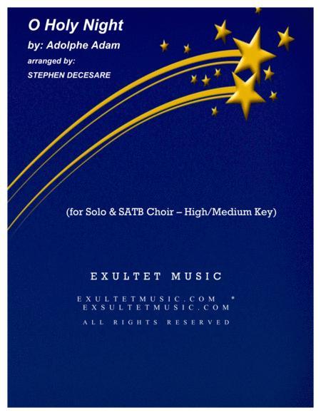 O Holy Night (for Solo & SATB - High/Medium Key)