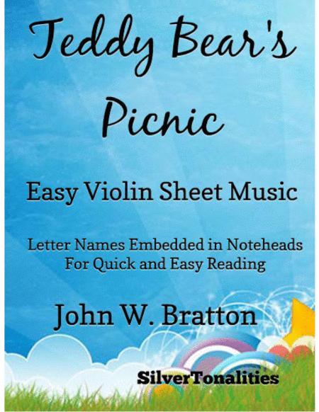 Teddy Bear's Picnic Easy Violin Sheet Music