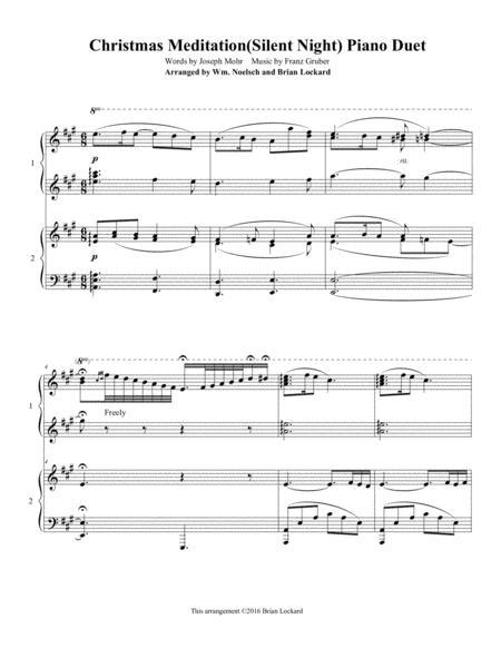 Christmas Meditation(Silent Night) Piano Duet