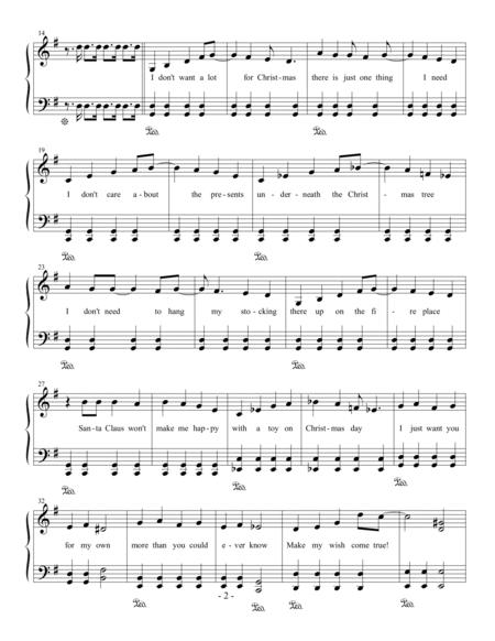 All I Want For Christmas Is You Chords.Preview All I Want For Christmas Is You Easy Piano H0