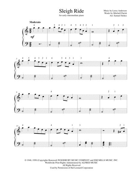 Sleigh Ride - for early-intermediate piano