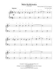 mele kalikimaka the hawaiian christmas song for easy piano - Hawaiian Merry Christmas Song