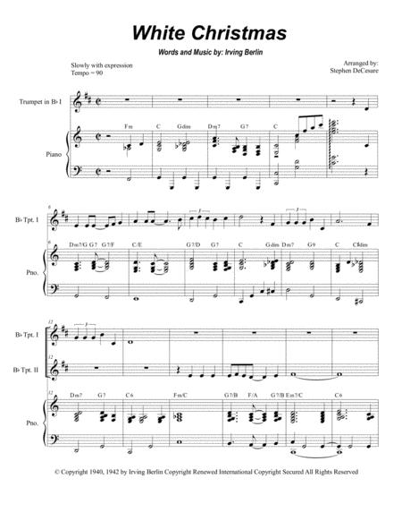 White Christmas (Duet for Bb-Trumpet)