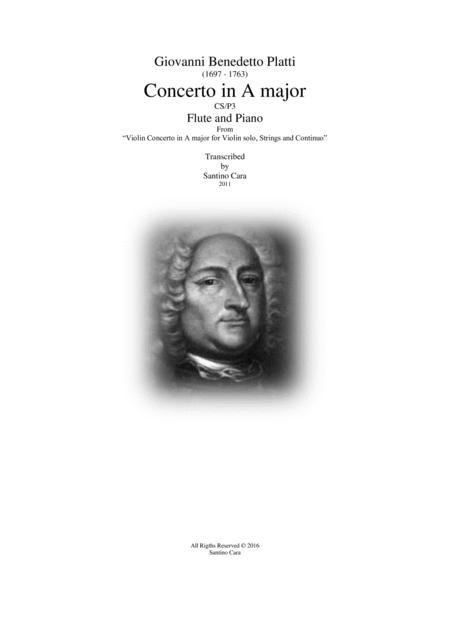 Platti - Concerto in A major for Flute and Piano