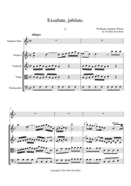 Exsultate jubilate: I. Allegro