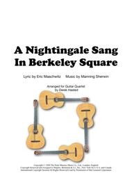 A Nightingale Sang In Berkeley Square - 4 gtrs