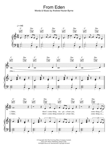 Download From Eden Sheet Music By Hozier Sheet Music Plus