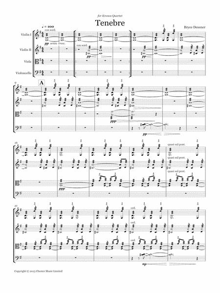 Tenebre (String quartet score and parts)