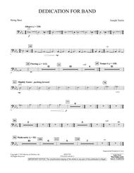 Dedication for Band - String Bass