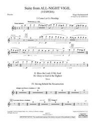 Suite from All-Night Vigil (Vespers) - Piccolo