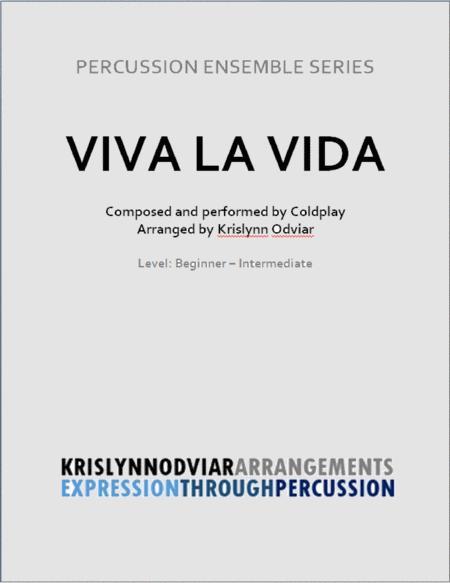 Viva La Vida for Percussion Ensemble