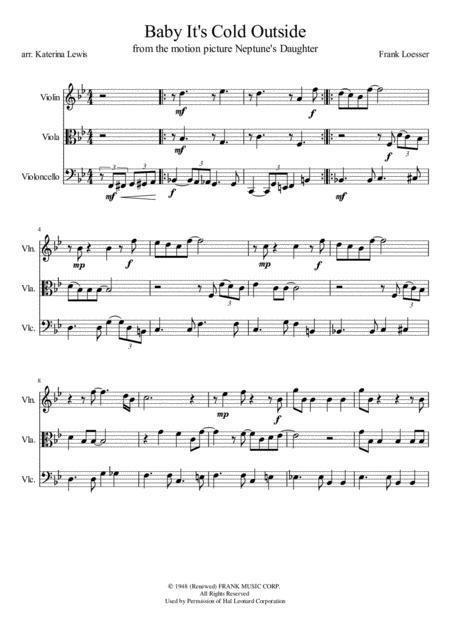 Baby, It's Cold Outside (Violin, Viola, Cello)