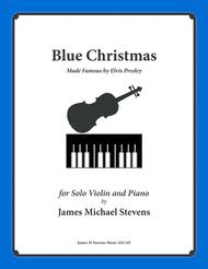 Blue Christmas by Elvis Presley (Violin & Piano)