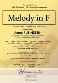 Melody in F for Full Orchestra // Anton RUBINSTEIN - Vincent D'INDY - Marc GARETTO