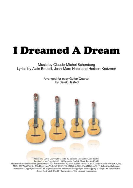 I Dreamed A Dream for 4 guitars