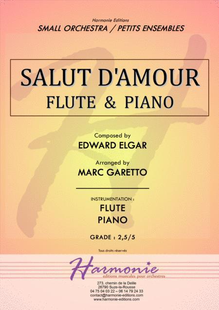Salut d'Amour - LiebesGruss - EDWARD ELGAR - FLUTE and PIANO - Arrangement by Marc GARETTO