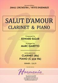 Salut d'Amour - LiebesGruss - EDWARD ELGAR - CLARINET and PIANO - Arrangement by Marc GARETTO