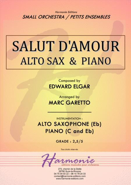 Salut d'Amour - LiebesGruss - EDWARD ELGAR - ALTO SAXOPHONE and PIANO - Arrangement by Marc GARETTO