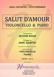 Salut d'Amour - LiebesGruss - EDWARD ELGAR - VIOLONCELLO and PIANO - Arrangement by Marc GARETTO