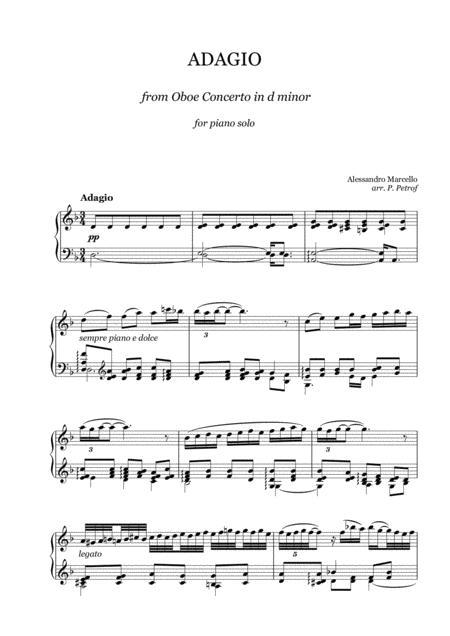 3 in D Minor for Oboe Adagio from Concerto No Marcello//Bach