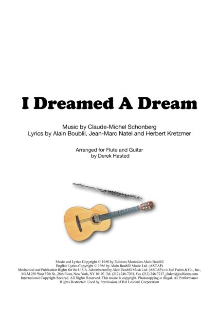 I Dreamed A Dream for Flute & Guitar
