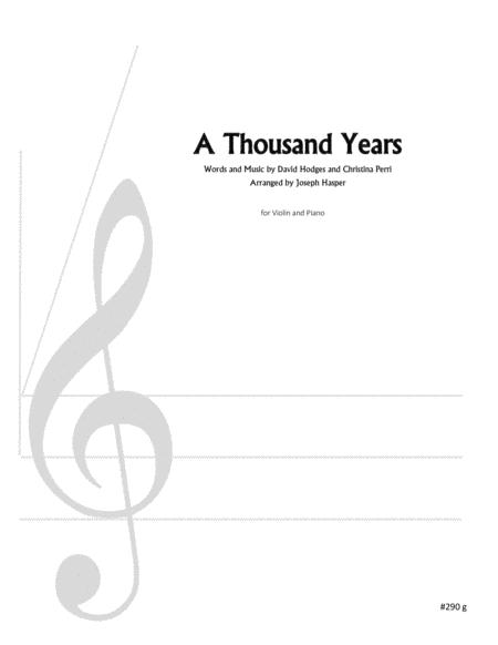 A Thousand Years (Violin and Piano)