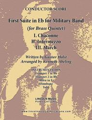 Holst - First Suite for Military Band in Eb (for Brass Quintet)