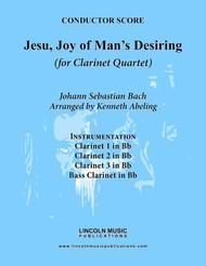 Bach - Jesu, Joy of Man's Desiring (for Clarinet Quartet)