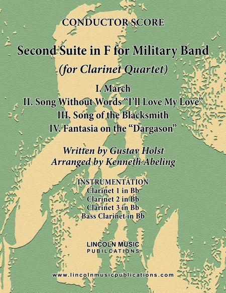 Holst - Second Suite for Military Band in F (for Clarinet Quartet)