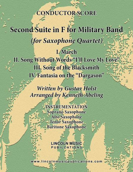 Holst - Second Suite for Military Band in F (for Saxophone Quartet SATB)