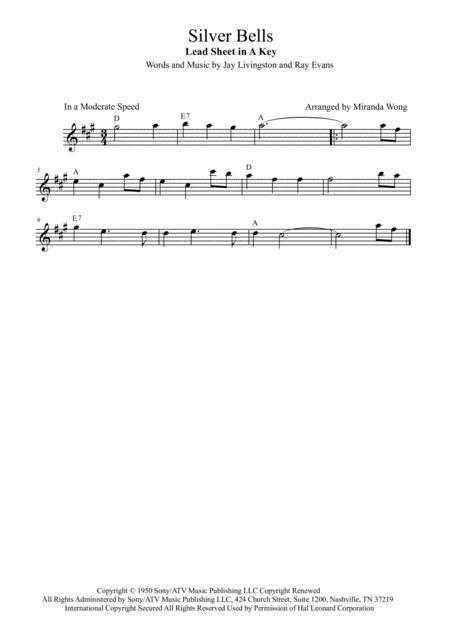 Silver Bells - Alto Saxophone Solo