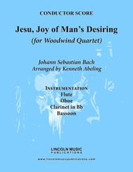 Bach - Jesu, Joy of Man's Desiring (for Woodwind Quartet)