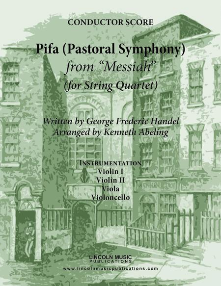 Handel - Pifa (Pastoral Symphony) from Messiah (for String Quartet)