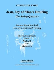 Bach - Jesu, Joy of Man's Desiring (for String Quartet)
