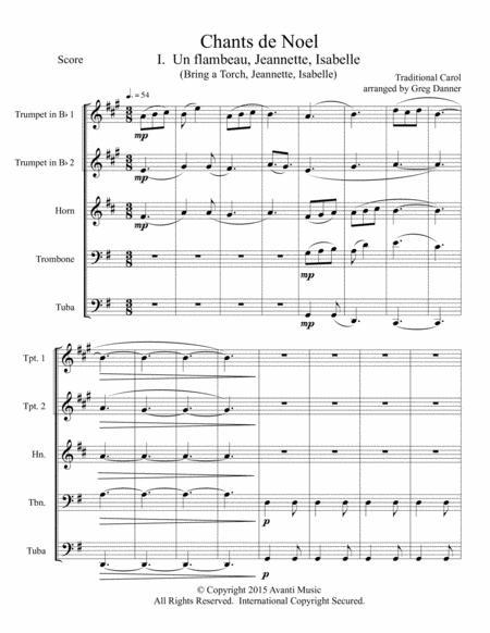 Chants de Noel--Four French Christmas Carols