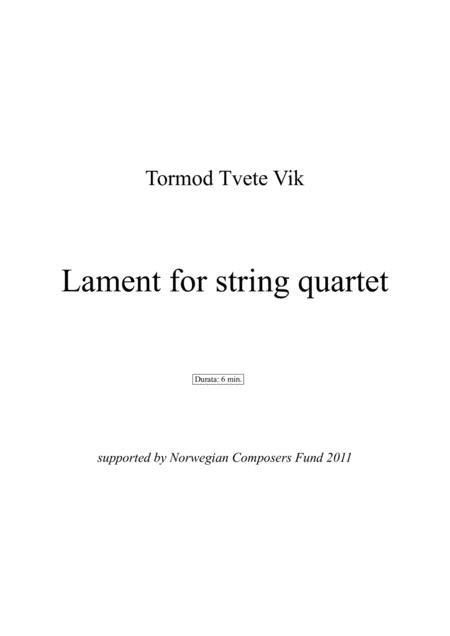 Lament for string quartet