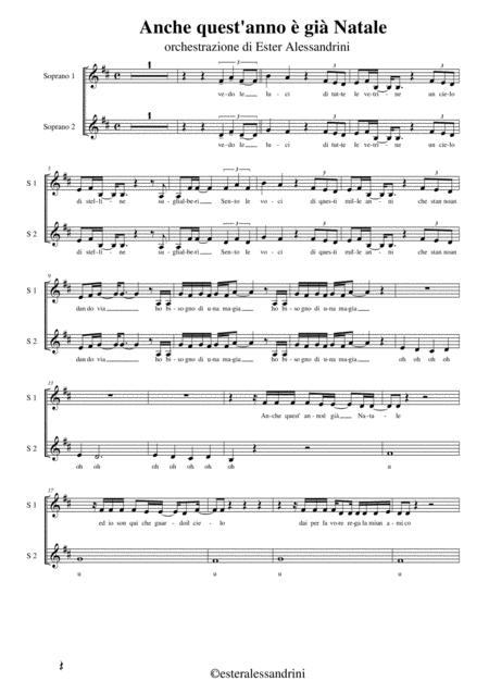 Anche Quest Anno E Gia Natale.Anche Quest 039 Anno E Gia Natale Parte Per Coro By Anonimo Digital Sheet Music For Set Of Parts Download Print S0 157253 Sheet Music Plus