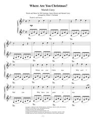 Where Are You Christmas? Easy Piano