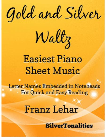 Gold and Silver Waltz Easiest Piano Sheet Music